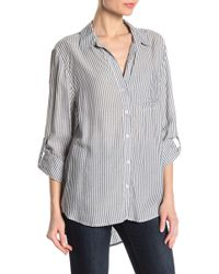 Velvet Heart - Striped Hi-lo Button Down Shirt - Lyst