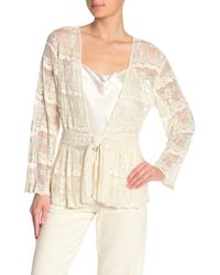 Love Sam Beaded Riviera Embroidered Topper Jacket - White