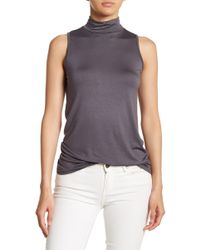 Michelle By Comune - Mock Neck Sleeveless Knit Tank Top - Lyst
