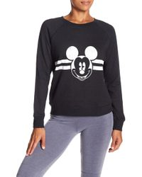 David Lerner - Mickey Mouse Raglan Sleeve Stripe Pullover - Lyst