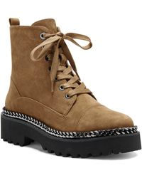 Vince Camuto Mindinta Chain Trim Combat Boot - Brown