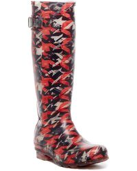 Kamik - Dynamic Houndstooth Waterproof Rubber Rain Boot - Lyst