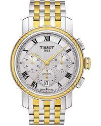Tissot Men's Bridgeport Automatic Chronograph Valjoux Watch, 42mm - Metallic