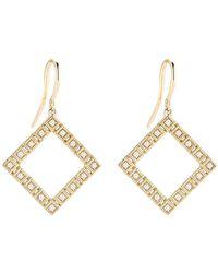 Dana Rebecca - 14k Yellow Gold Diamond Accented Lisa Michelle Drop Earrings - 0.16 Ctw - Lyst