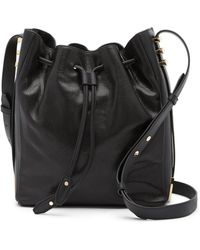 Luana Italy - Cecilia Leather Drawstring Bag - Lyst