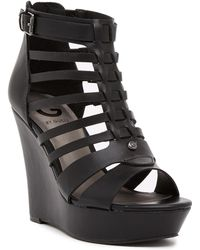 G by Guess - Dacen Wedge Sandal - Lyst