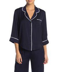 Room Service Pajama Top - Blue