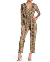 West Kei Snake Print Pocketed Jumpsuit - Multicolor
