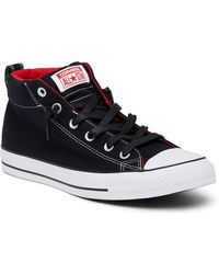 3d9714e80608 Lyst - Converse Chuck Taylor Street Mid Sneaker (unisex) in Black ...