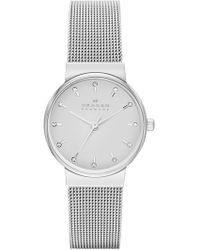 Skagen Women's Ancher Mesh Bracelet Watch, 26mm - Metallic