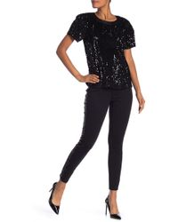Laundry by Shelli Segal - Skinny Pull On Pants With Side Shimmer - Lyst
