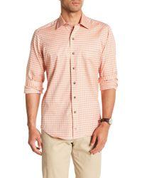 David Donahue - Check Casual Fit Shirt - Lyst