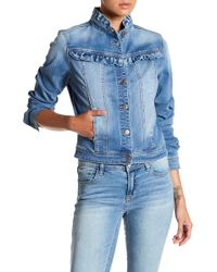Kensie - Forever Ruffled Denim Jacket - Lyst