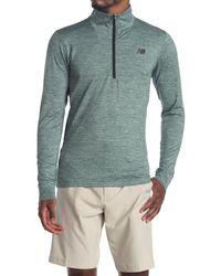 New Balance Fortitech Quarter Zip Shirt - Green