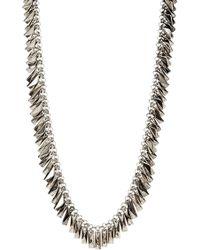 House of Harlow 1960 Pyramid Bar Necklace - Metallic