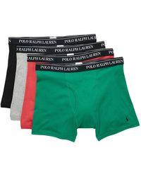 Polo Ralph Lauren Boxer Briefs - Pack Of 4 - Green