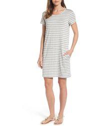 Caslon Knit Shift Dress - Gray