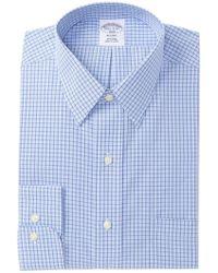 Brooks Brothers - Checker Regent Fit Dress Shirt - Lyst