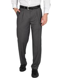 "Dockers Single Pleat Performance Stretch Straight Fit Dress Pants - 30-34"" Inseam - Grey"