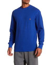 Polo Ralph Lauren - Collegiate Waffle Knit Long Sleeve Crew Pullover - Lyst