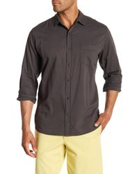 Velvet By Graham & Spencer - Front Button Long Sleeve Classic Fit Shirt - Lyst