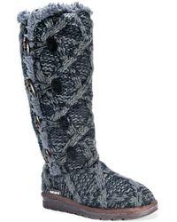 Muk Luks Felicity Faux Fur Lined Boot - Black