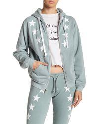 Wildfox - Cosmos Star Print Front Zip Jacket - Lyst