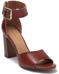 Madden Girl Harperr Open Toe Block Heel Sandal - Brown