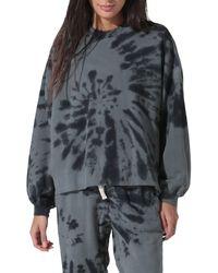 Electric and Rose Neil Tie Dye Sweatshirt - Gray