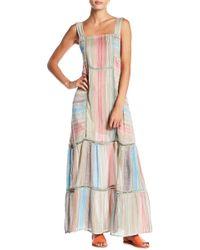 Free People - Anika Stripe Maxi Dress - Lyst