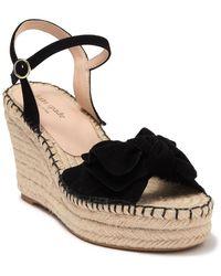 Kate Spade Fanni Platform Wedge Espadrille Sandal - Black