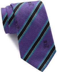 Psycho Bunny Silk Stripe Tie - Purple