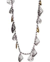 Jenny Packham - Two-tone Cutout Seashell Layering Necklace - Lyst