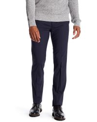 Theory Marlo New Tailor 2 Flat Front Solid Stretch Wool Pants