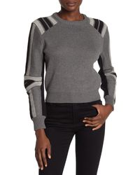 Rebecca Minkoff Janica Stripe Sweater - Gray
