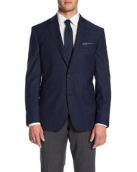 Ted Baker - Jarrett Trim Fit Wool Spot Coat - Lyst