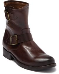 Frye Vicky Engineer Leather Boot - Brown