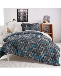 DKNY Camo Duvet, Sham & Accent Pillow Set - Gray