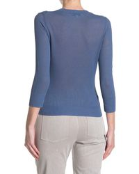 Vince Textured Pullover - Blue