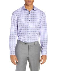 W.r.k. - Slim Fit Performance Stretch Plaid Dress Shirt - Lyst