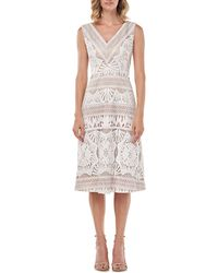 Kay Unger Priscilla Lace Midi Dress - Multicolor