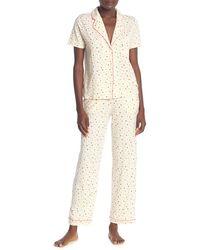 Madewell Bedtime Heart Print Top & Pants Pajama 2-piece Set - White