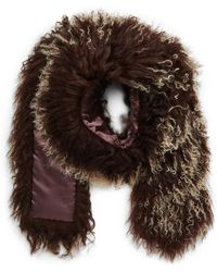 Toria Rose - Genuine Mongolian Lamb Fur Scarf (special Purchase) - Lyst