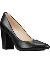 Nine West Alisa Pointed Toe Leather Pump - Black
