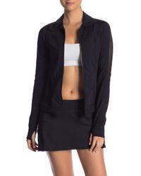 Trina Turk - Perforated Zip Jacket - Lyst