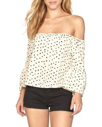 Amuse Society - Chapelle Off The Shoulder Top - Lyst