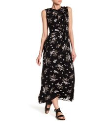 Vince - Asymmetric Floral-print Silk Dress - Lyst