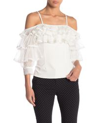 Gracia Off-the-shoulder Ruffled Top - White