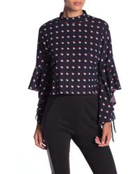 BCBGeneration - Cropped Frill Sleeve Sweater - Lyst