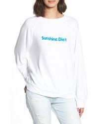 Wildfox - Sunshine Diet Sommers Sweatshirt - Lyst
